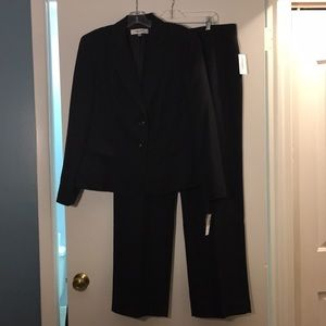 Black pinstripe suit by Jones Studio, size 16